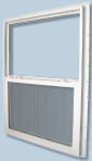Series 9750 Vinyl Single Hung Window Grids Kinro 46 x 54 White