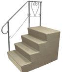 "Steps, Decks, and Rails Fiberglass Steps ""B"" Series 7″ Riser 28″ x 18″ x 36″"