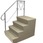 "Steps, Decks, and Rails Fiberglass Steps ""B"" Series 7″ Riser 24″ x 18″ x 36″"