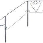 Steps, Decks, and Rails Standard Side Rail for 3 Step 18″ platform, 28″ deep, 32″ high