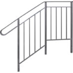 Steps, Decks, and Rails Deluxe Side Rail for 4 Step 29″ platform, 35″ high