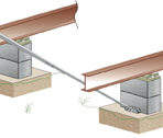 Setup and Transportation Xi2 Concrete System, Dry Set Includes 5′ Strut, Bracket, and Hardware