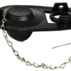 Plumbing One Piece Rubber Flapper Tank Ball with Chain and Hook