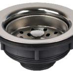 Plumbing Kitchen Sink Strainer Assembly 3 1/2″ Twist Top Basket Strainer