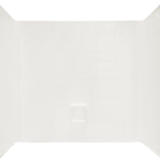 Plumbing One Piece Surround For 32 x 32 Pan, White