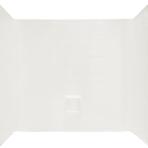 Plumbing Shower Surround White, 68″H x 54″W x 28″D