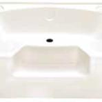 Plumbing Permalux Garden Tub 40 x 54, Bone, With Step