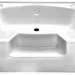 Plumbing Permalux Garden Tub 40 x 54, White, with Step