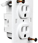 Electrical Receptacle Duplex without Coverplate