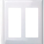 Electrical Coverplate Receptacle Double Snap-on White