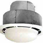 Electrical Round Bath Fan with 7″ Light 90CFM Vertical Outlet