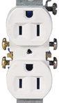 Electrical Receptacle Duplex 15Amp 125 Volt White