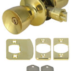 Doors and Windows Entrance Lock Polished Brass