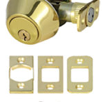 Doors and Windows Single Cylinder Deadbolt Polished Brass