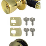 Doors and Windows Entry Deadbolt and Combo Set Polished Brass