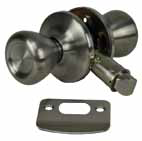 Doors and Windows Passage Lock Set Stainless Steel