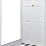 Doors and Windows Kinro Series 7660 Left Hand 34″ x 80″ with Knocker Viewer