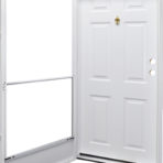 Doors and Windows Kinro Series 7660 Steel Combination Door with Knocker Viewer, Left-hand 38″ x 76″